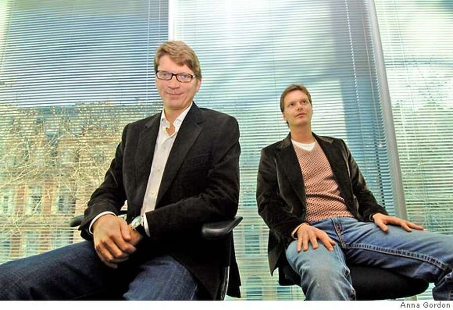 Before Joost, founders Niklas Zennstrom (left) and Janus Friis (right) are created Skype, the Internet telephone service, and Kazaa, the online music sharing network. Photo credit: Anna Gordon Photo licsensed for press and publicity use for two years from 12/2/07 Photo: Anna Gordon