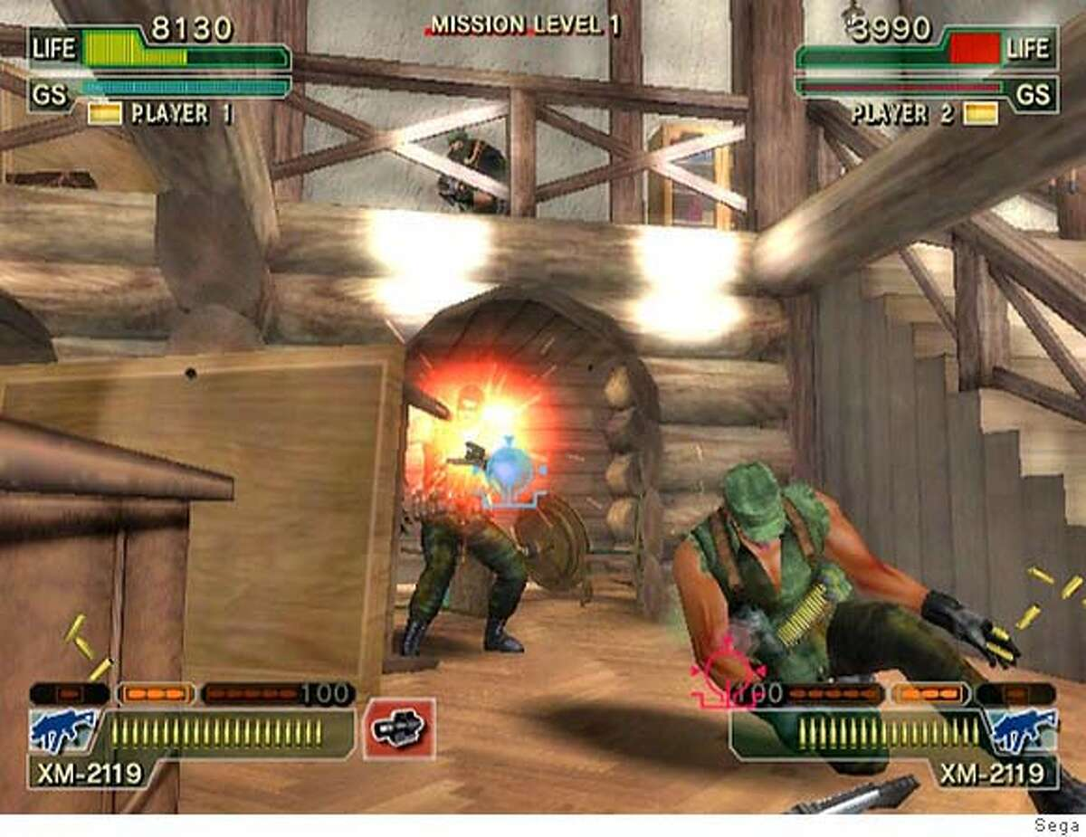 """Sega plans to bring the popular arcade shooter """"Ghost Squad,"""" shown in this video image provided by Sega, to the Wii. (AP Photo/Sega) NO SALES."""