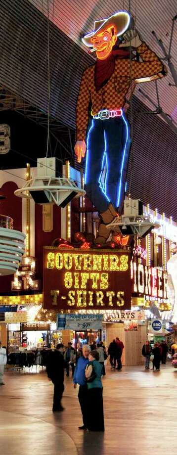 Fremont Street is home to some of the older casinos in Las Vegas, and its kitschy attitude and lower stakes can make it attractive Photo by Joshua Trudell// Special to the Express-News Photo: Joshua Trudell / For The Express-News