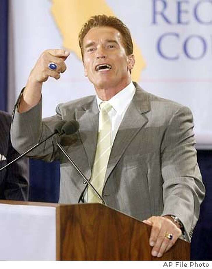 08/25/03 | Color | 5star | 25p x full | 1 | A-Section | jmm 8006 | schwarzenegger Photo: REED SAXON