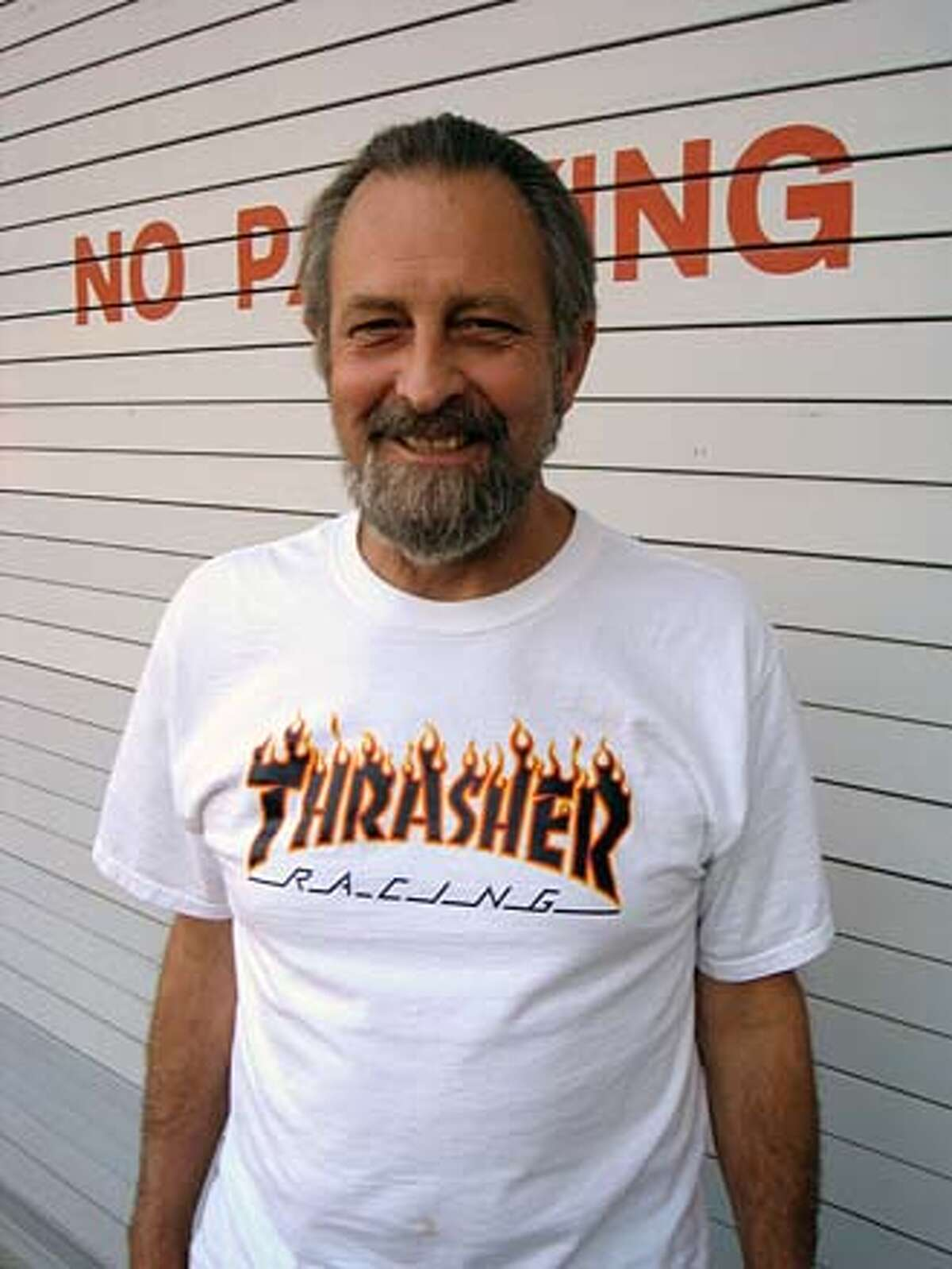 Ed Riggins of Thrasher obit hand out photo