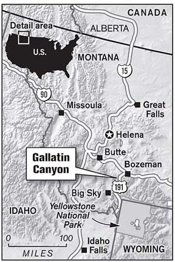 Gallatin Canyon. Chronicle Graphic