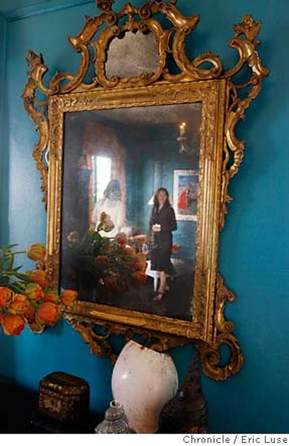 showcase28_mirrors0223_el.JPG  Master Bedroom 18th century French mirror with from Candace Barnes Antiques at he Decorator Showcase at 2901 Broadway . Photographer:  Eric Luse / The Chronicle names cq from the source MANDATORY CREDIT FOR PHOTOG AND SF CHRONICLE/NO SALES-MAGS OUT Photo: Eric Luse