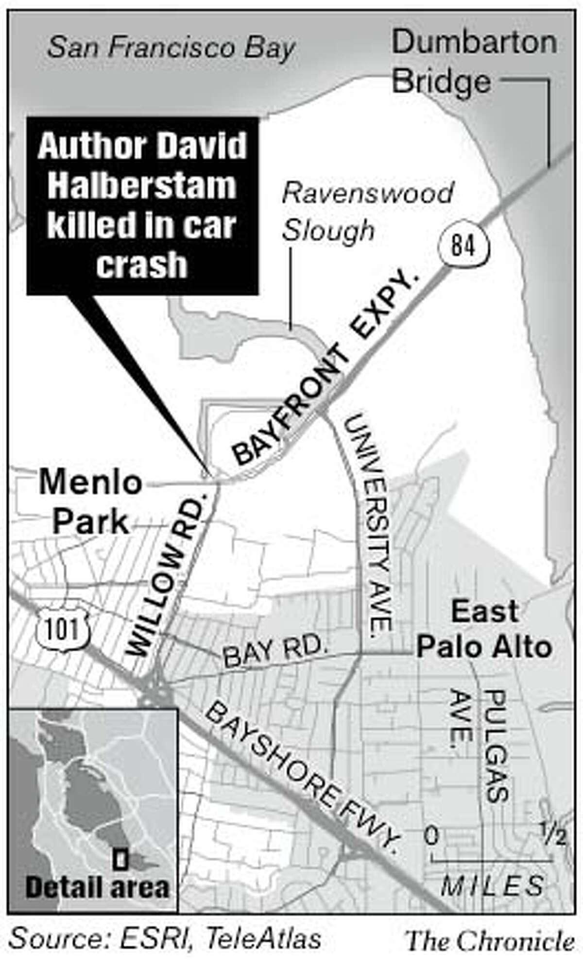 Author David Halberstam Killed in Car Crash. Chronicle Graphic