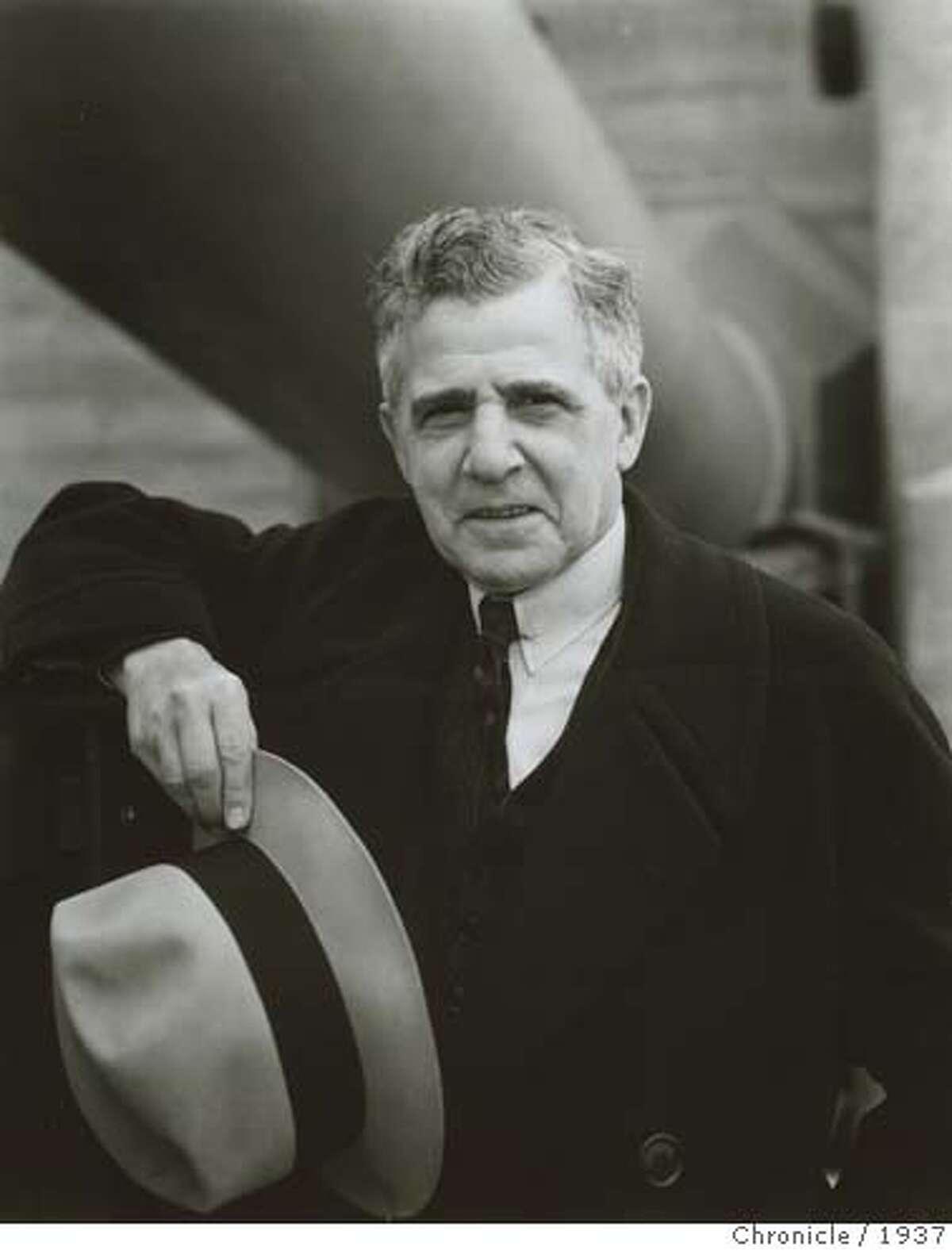 Joseph B. Strauss, chief engineer of the Golden Gate Bridge in 1937 photograph.