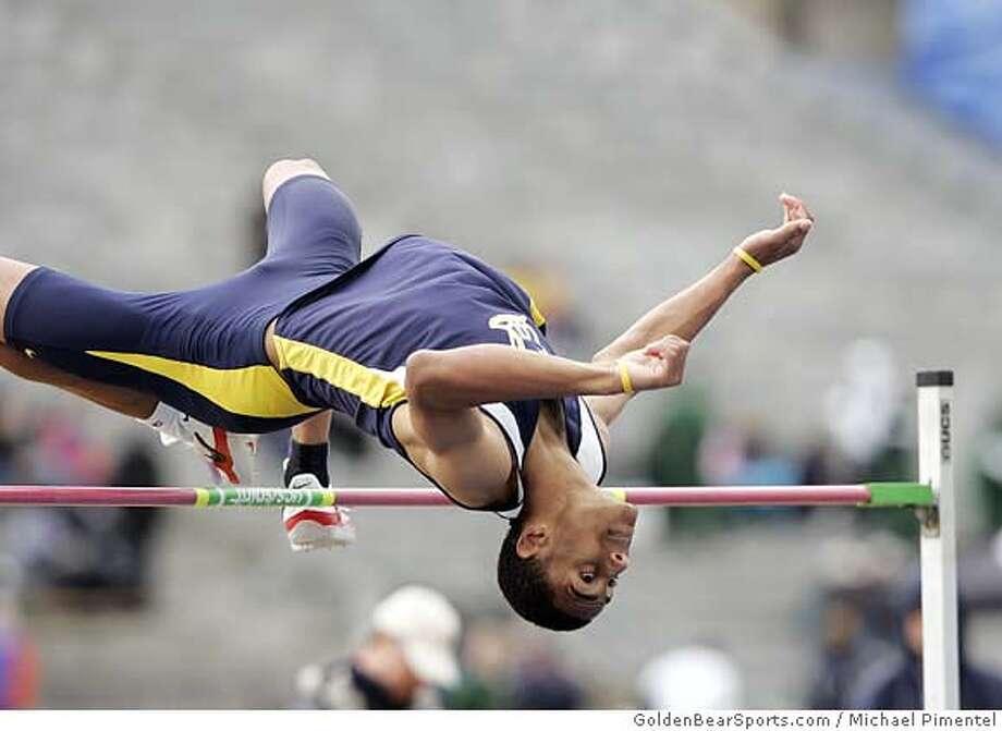 Ed Wright, Cal high jumper, 2007. Credit -- Michael Pimentel/GoldenBearSports.com Photo: Michael Pimentel