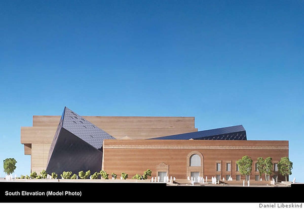 South elevation image of the Jewish Museum project by Daniel Libeskind.