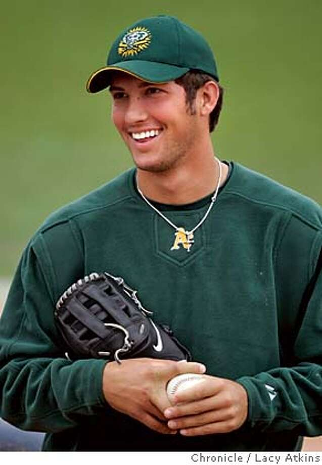 Oakland Athletics Huston Street waits in the bullpin for the sixth inning to pitch against the Milwaukee Brewers, Friday march 18, 2005, in Glendale.ATHLETICS PLAY MILWAUKEE AT SPRING TRAINING, MARYVALE STADIUM , MARCH 18, 2005, IN TEMPE, ,AZ. Fans at the Cactus League games beginning Tuesday about what they think of the congressional hearings into Major League Baseball players' steroid use and the league's testing plans. 2005. Photographer Lacy Atkins Photo: LACY ATKINS