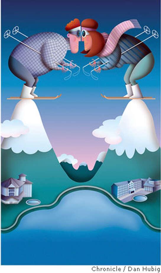 Heavenly vs. Squaw. Chronicle illustration by Dan Hubig