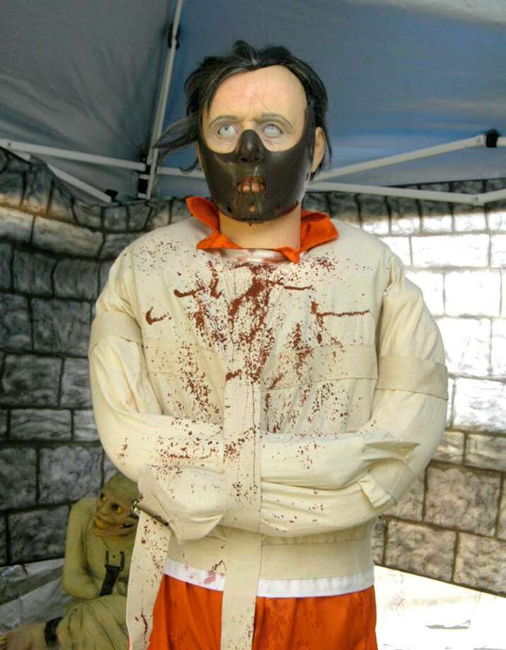 Hannibal Lector is part of the elaborate Halloween display in Tae Duffy's yard on Sun Pond Lane in New Milford Thursday, October 22, 2009 Photo: Carol Kaliff / The News-Times