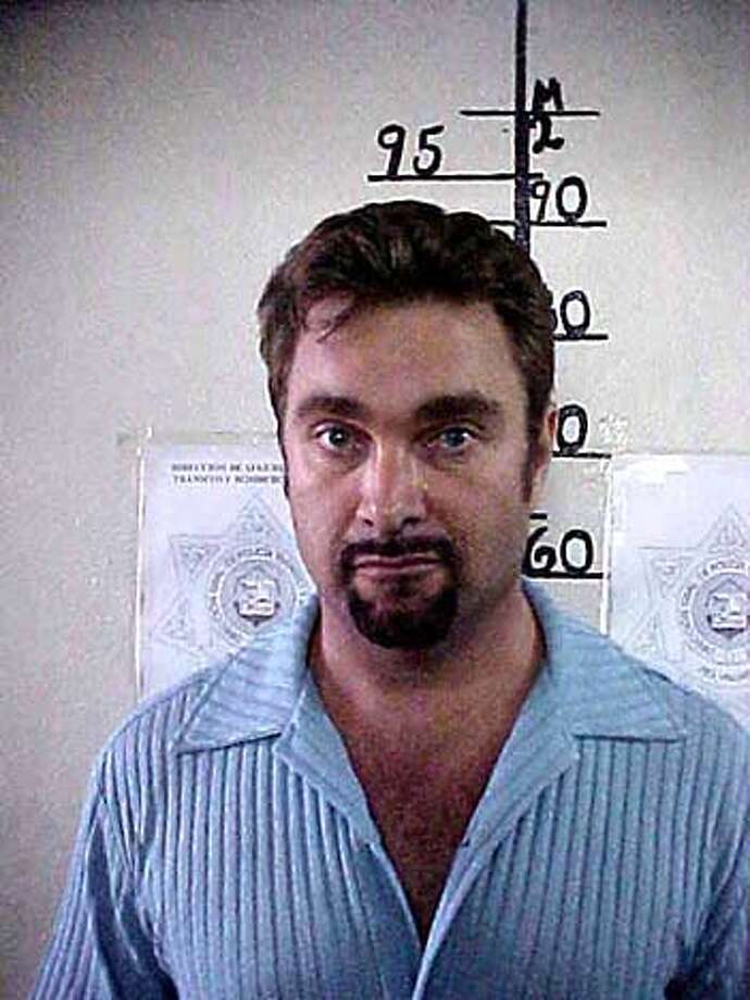 Andrew Luster, the fugitive heir of the Max Factor cosmetics fortune and convicted rapist is shown in a police mugshot after he was arrested in the Mexican beach resort of Puerto Vallarta June 18, 2003. Police said Luster, who jumped $1 million bail in Ventura County north of Los Angeles in January and was later convicted in absentia, was one of six people detained in Puerto Vallarta after a pre-dawn scuffle in the street. REUTERS/HO-Puerto Vallarta Police QUALITY FROM SOURCE EDITORIAL USE ONLY Photo: HO