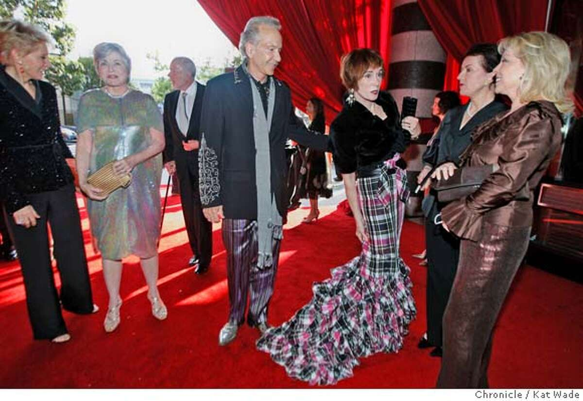 MODERN04_0129_KW.JPG (CHECK BELOW) Norman Stone and his wife, Norah Stone (in long trailing gown) arrive at SFMOMA's Modern Ball 2007 with three parties in one and an auction fundraiser Wednesday May 1, 2007. Kat Wade/The Chronicle Nolah (CQ) and Norman Stone (NOLAH TOLD ME HERSELF THAT HER NAME IS NOLAH.....Bigelow wrote Norah???) Mandatory Credit for San Francisco Chronicle and photographer, Kat Wade, No Sales Mags out