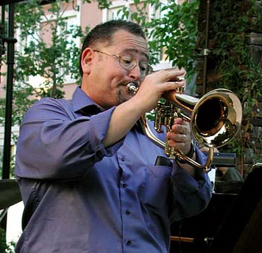 John Worley of Daly City plays the flugelhorn in addition to the trumpet with his band Worlview. Courtesy Greg Chow
