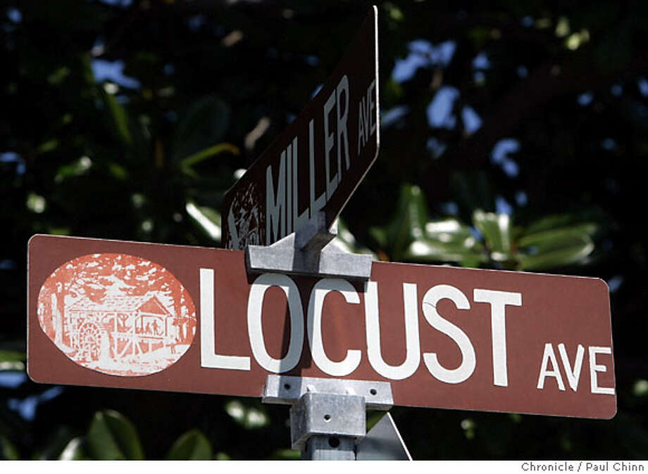 Locust Avenue street sign in Mill Valley, Calif. on Thursday, April 26, 2007. For 96 Hours Streetdate feature.  PAUL CHINN/The Chronicle Photo: PAUL CHINN