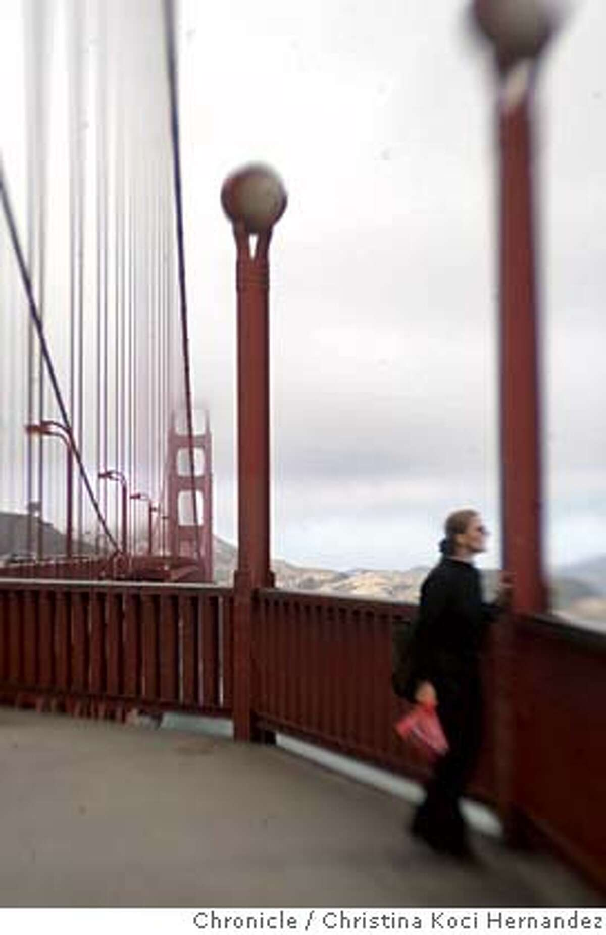 """CHRISTINA KOCI HERNANDEZ/CHRONICLE Photos of the Golden gate Bridge. Story on GG Bridge suicides for story, """"Lethal Beauty."""""""