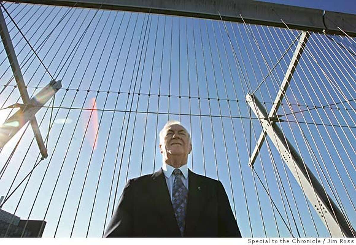 Al Birney stands by the Bloor Street Viaduct in Toronto, Ontario, Canada on September 28, 2005. After his son's attempted suicide, he helped to get suicide barriers put on the city's most popular sucide bridge. Photo by Jim Ross/Special to the Chronicle