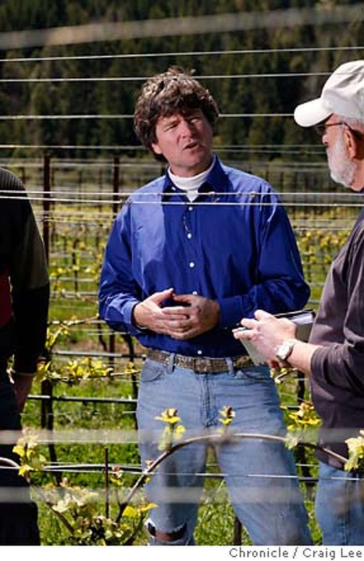 CONSULTANTS04_014_cl.JPG Story on wine consultants. This is Greg La Follette, consulting at Londer Vineyards in Philo. Photo of Greg La Follette speaking to Larry Londer ((right). Event on 4/23/07 in Philo. photo by Craig Lee / The Chronicle MANDATORY CREDIT FOR PHOTOG AND SF CHRONICLE/NO SALES-MAGS OUT