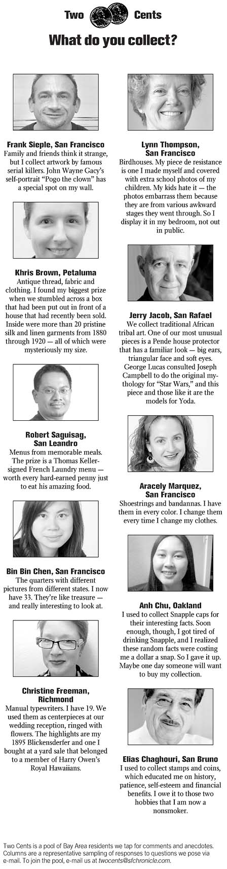 TWO CENTS / What do you collect? - SFGate