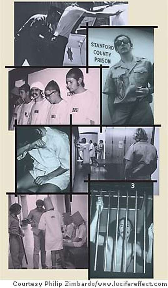 Poisoned By Bad Situations: Professor behind Stanford Prison Experiment says being in a cruel place can make you act evil. Photos courtesy Philip Zimbardo, www.lucifereffect.com
