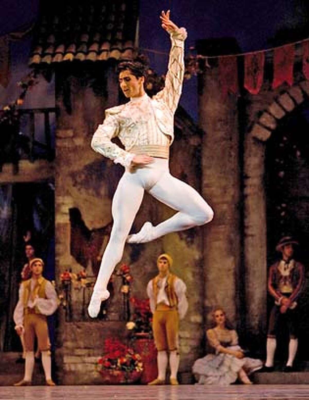 "Davit Karapetyan portrays Basilio in ""Don Quixote"" at the San Francisco Ballet"