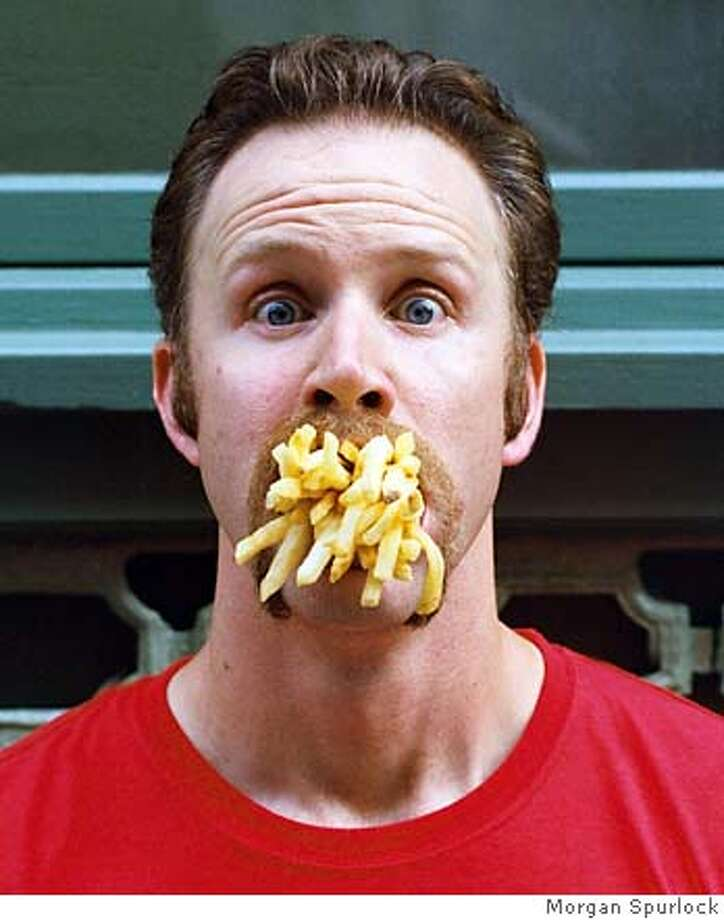 Morgan Spurlock in his own documentary SUPER SIZE ME, playing at 47th San Francisco International Film Festival, April 15 - 29, 2004. ProductName	Chronicle ProductName	Chronicle ProductName	Chronicle ProductName	Chronicle ProductName	Chronicle Photo: Morgan Spurlock