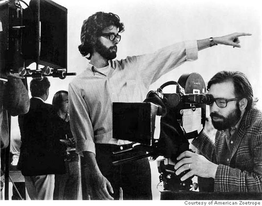 "George Lucas and Francis Ford Coppola on the set of ""THX 1138"" in Gary Leva's documentary ""Fog City Mavericks."" Photo: Courtesy Of American Zoetrope"