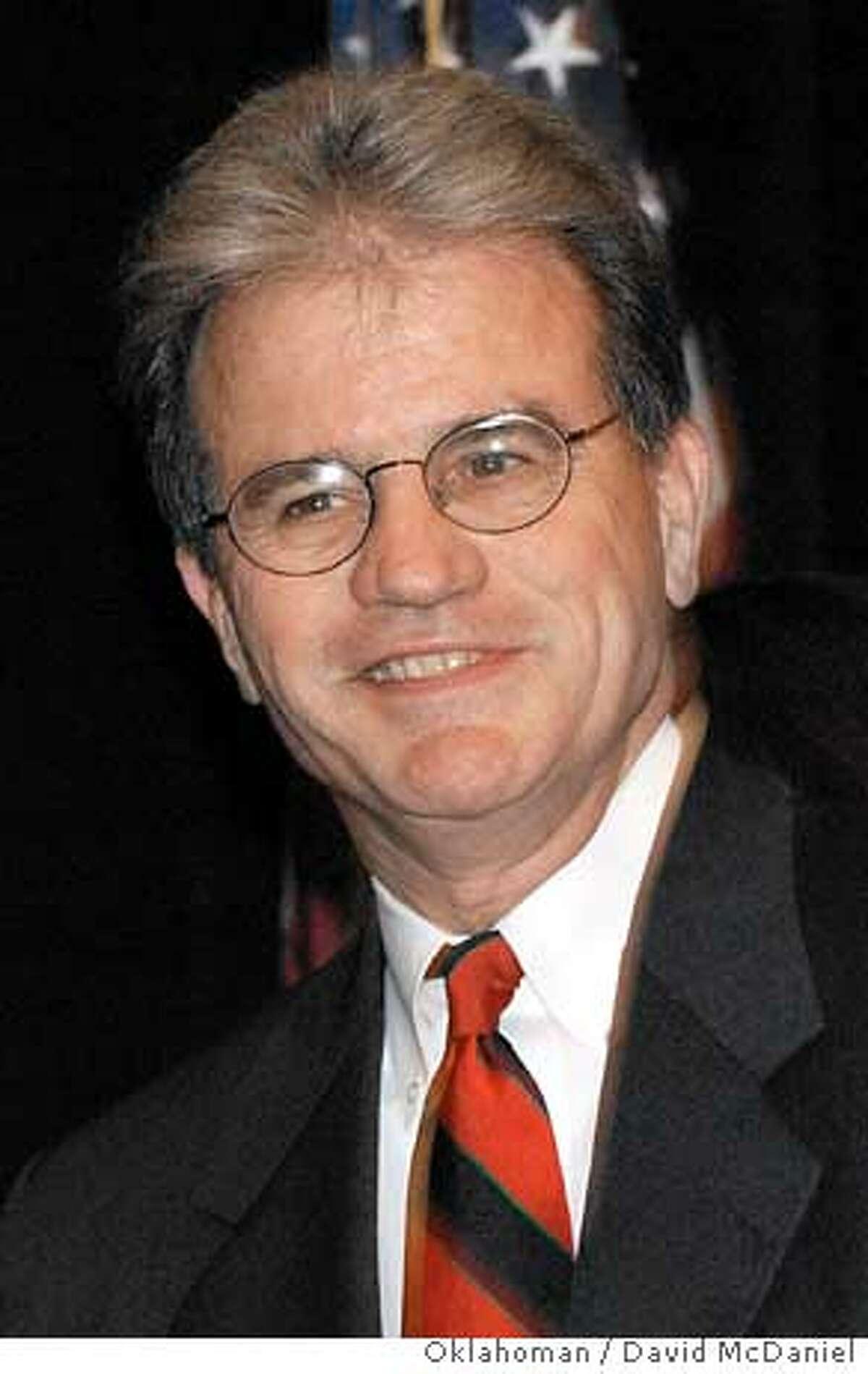 U.S. Senate candidate Tom Coburn smiles at his watch party in Tulsa, Tuesday night, Nov. 2, 2004. (AP Photo/The Oklahoman, David McDaniel)