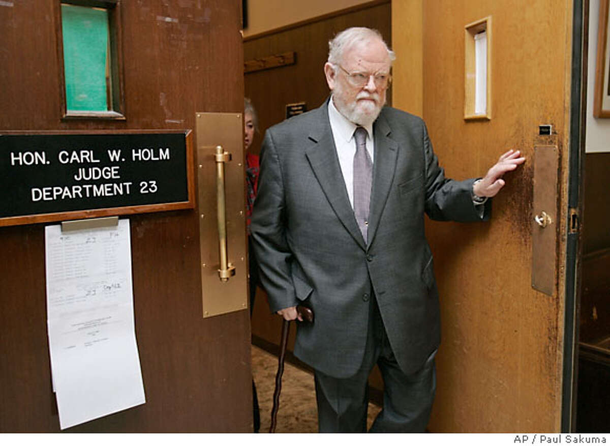 William Ayres, a noted child psychiatrist, leaves a San Mateo County Superior Court in Redwood City, Calif., Friday, April 27, 2007, after pleading not guilty to charges he molested seven boys in his care. Ayres, 75, appeared briefly as a prosecutor added three additional counts to the indictment involving two new alleged victims. Ayres now faces 21 counts of lewd and lascivious behavior. Five of the boys were between 9 and 12 when the alleged abuse took place. (AP Photo/Paul Sakuma)
