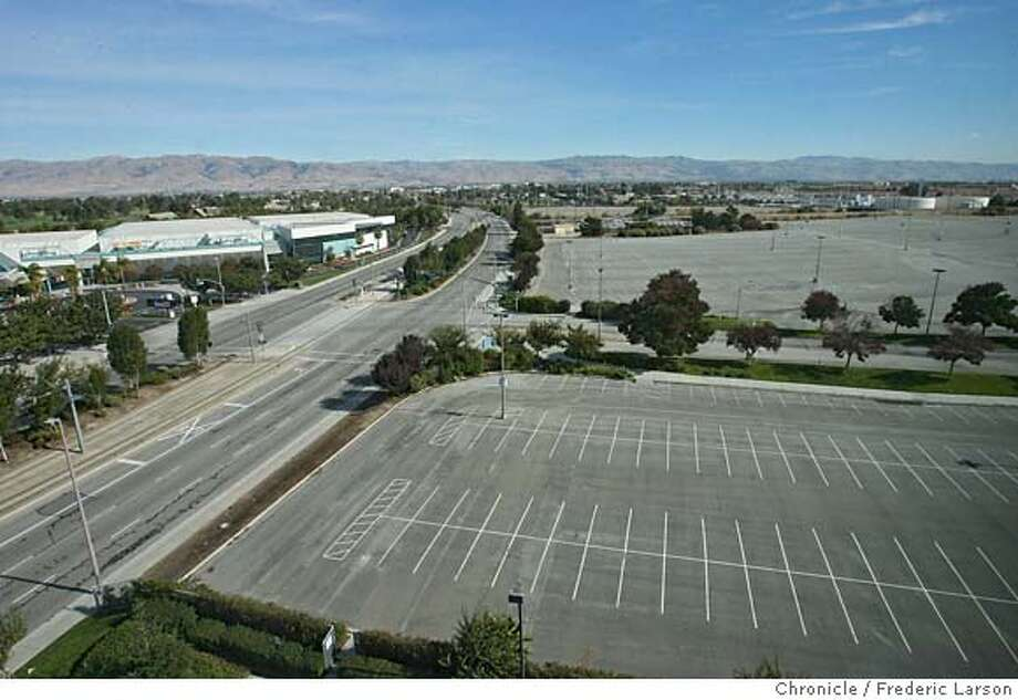"The proposed site in Santa Clara right next to Great America and the 49ers Headquarters. Owner of the 49ers John York stated at a press conference in Santa Clara that The San Francisco 49ers will abandon their namesake city and look to build a stadium in Santa Clara, after concluding that their plan to build a stadium and retail-housing complex at Candlestick Point will not work. The 49ers said Candlestick Point, where the team has played since 1971, cannot support a ""new state-of-the-art NFL stadium and adjacent major mixed-use project."" The decision to look at Santa Clara -- the team's headquarters and the site of their training facility -- came after ""careful deliberation"" and a year of study, the team said. ""The team came to the conclusion that the (San Francisco) project would not have offered the optimal game day experience it is seeking to create for fans, and has therefore decided not to move forward with the public approval process at Candlestick Point,"" the 49ers said in a statement. 11/10/06  {Photographed by Frederic Larson} Ran on: 02-26-2007  This Santa Clara location is the proposed site of a 49ers stadium, but a strip belongs to San Francisco.  Ran on: 02-26-2007  This Santa Clara location is the proposed site of a 49ers stadium, but a strip belongs to San Francisco. MANDATORY CREDIT FOR PHOTOGRAPHER AND SAN FRANCISCO CHRONICLE/NO SALES-MAGS OUT Photo: Frederic Larson"
