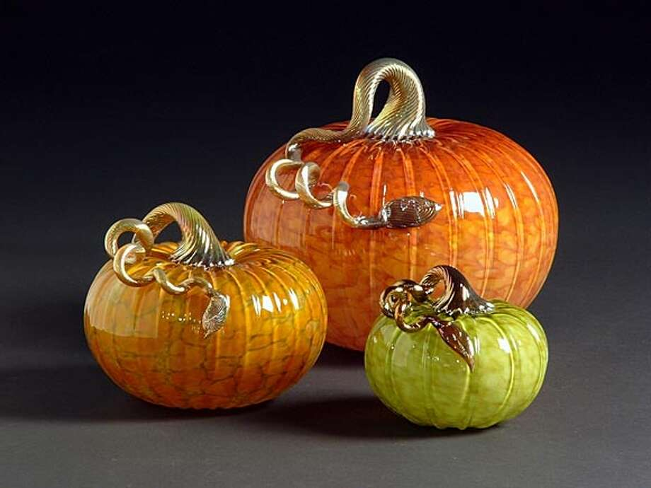 Glass pumpkins from Cohn-Stone Studios in Richmond. Photo: Handout
