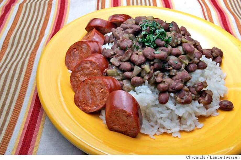 WORKING18_t21417.JPG  Working Cook is Quick. Dirty Red Beans & Rice with Sausage (APRIL 12) (cq, subject) Photo By Lance Iversen / The Chronicle  Photo taken on 4/12/07, in SAN FRANCISCO, CA. MANDATORY CREDIT PHOTOG AND SAN FRANCISCO CHRONICLE/NO SALES MAGS OUT Photo: By Lance Iversen
