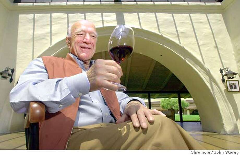 mondavi224_jrs.jpg  Robert Mondavi at his winery. He is celebrating his90th birthday on June 18th. 6/13/03 in Oakville. JOHN STOREY / The Chronicle CAT MANDATORY CREDIT FOR PHOTOG AND SF CHRONICLE/ -MAGS OUT Photo: JOHN STOREY