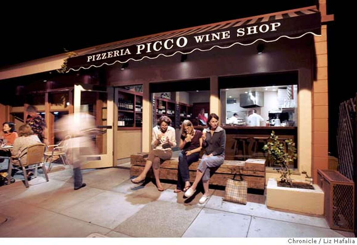 Picco Pizzeria is part of Bruce Hill's new restaurant in Larkspur. Photographed by Liz Hafalia on 9/29/05 in Larkspur, California. SFC
