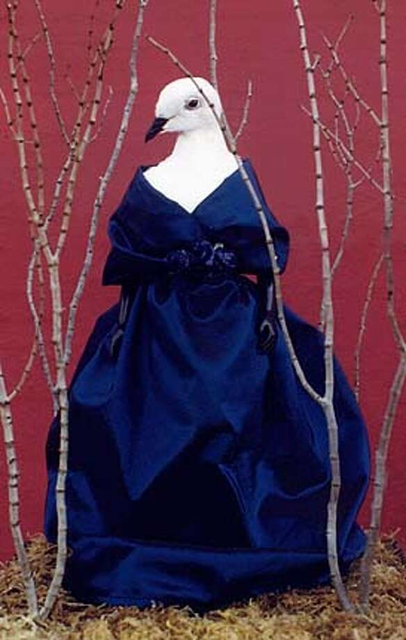 "This image is of a sculpture titled ""Pigeon Diva,"" which was created by artist Tia Resleure. Please credit the image to her."