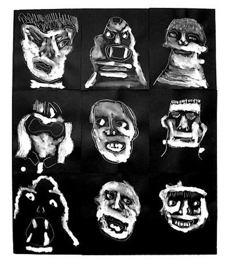 Artwork in the Revenge of Monster show at Creativity Explored. by artist Douglas  Sheran. Photo: Handout