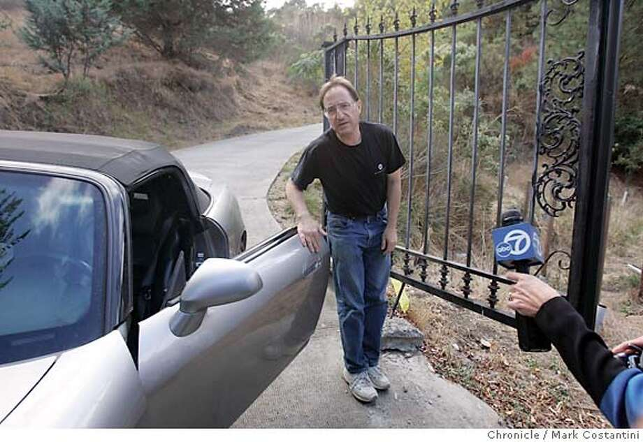 Daniel Horowitz after at the driveway entrance to his home in Lafayette prepares t meet the press. PHOTO: MARK COSTANTINI/S.F. CHRONICLE Photo: Mark Costantini