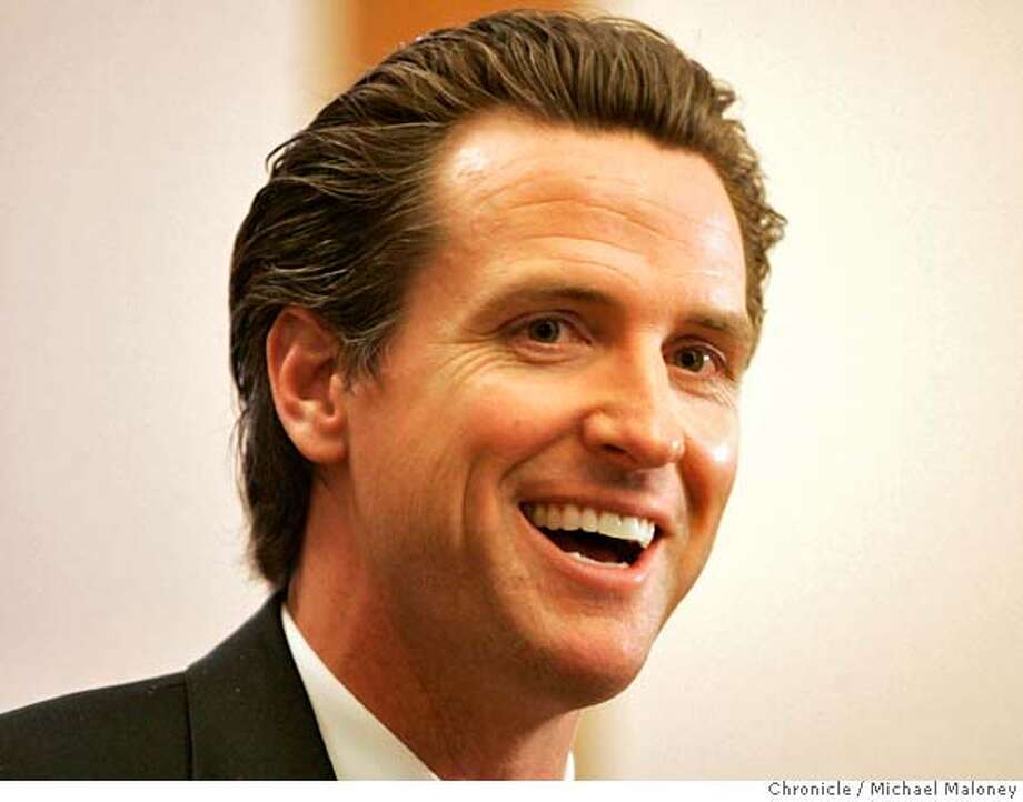 Mayor Gavin Newsom Mayor Gavin Newsom and Municipal Transportation Agency Director Nathaniel Ford held a roundtable discussion today April 11, 2007 at City Hall that focused on various San Francisco transportation issues Photo by Michael Maloney / San Francisco Chronicle ***Gavin Newsom, Nathaniel Ford MANDATORY CREDIT FOR PHOTOG AND SF CHRONICLE/NO SALES-MAGS OUT Photo: Michael Maloney