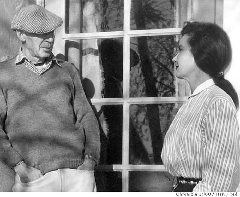 Photograph of Henry Miller and wife in Big Sur. Received by the Chronicle library July 3, 1960 Photo: Harry Redl