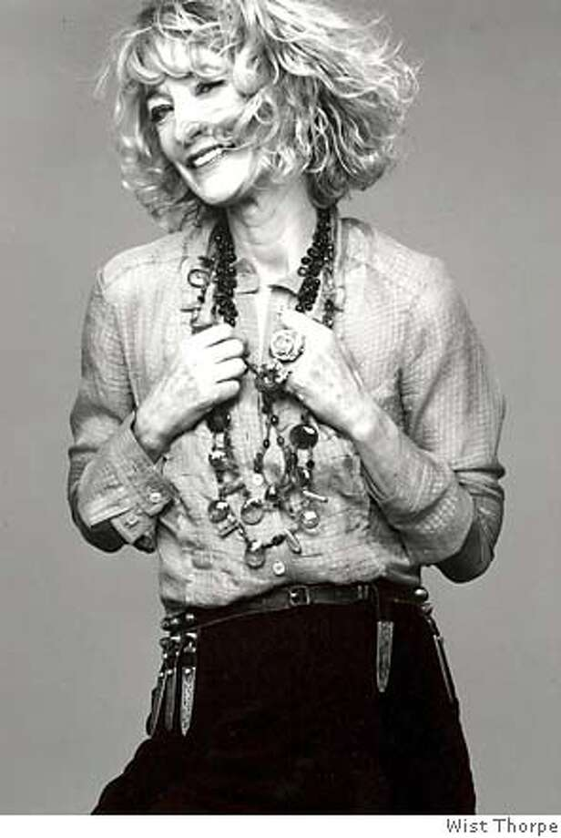 Loulou de la Falaise is hoping items like her broach or jewelry bag will set her apart as a designer. Photo by Wist Thorpe