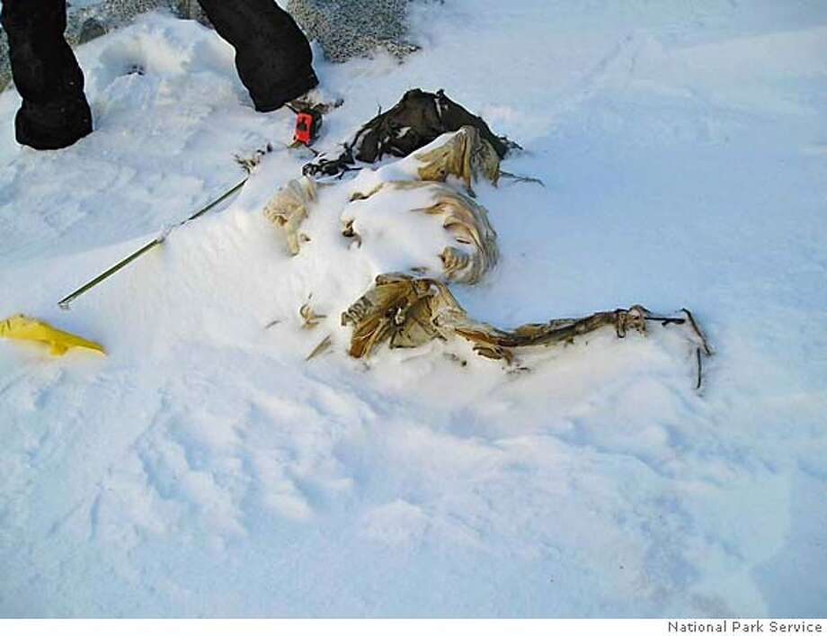 A WWII Army Air Corp man was found encased in ice at Mt. Mendel in Sequoia and Kings Canyon National Park. Photo: National Park Service