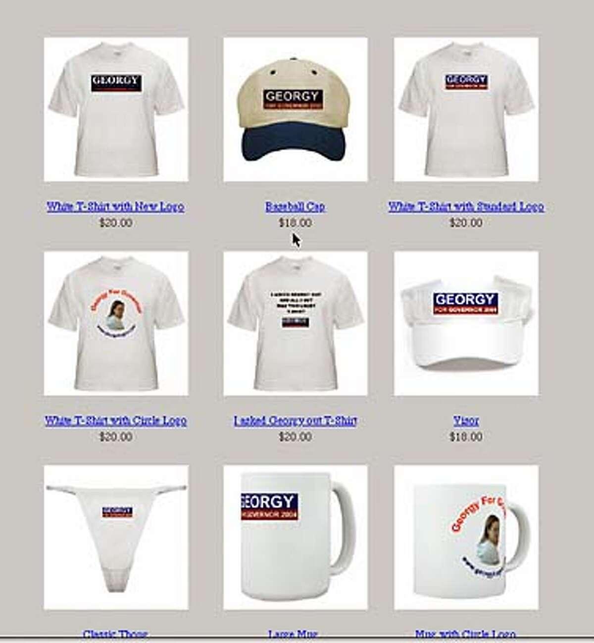 georgy for gov.com merchandise