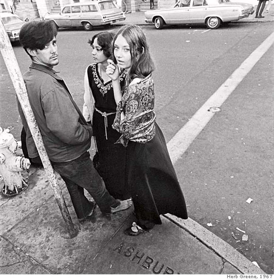 Hippies on Haight Street, 1967  AMERICAN EXPERIENCE Summer of Love This presentation offers a complex portrait of the notorious event that many consider the peak of the 1960s counter-culture movement. Pictured:�Three hippies hanging out on Haight Street in 1967. Credit: � Herb Greene Photo: Credit: � Herb Greene