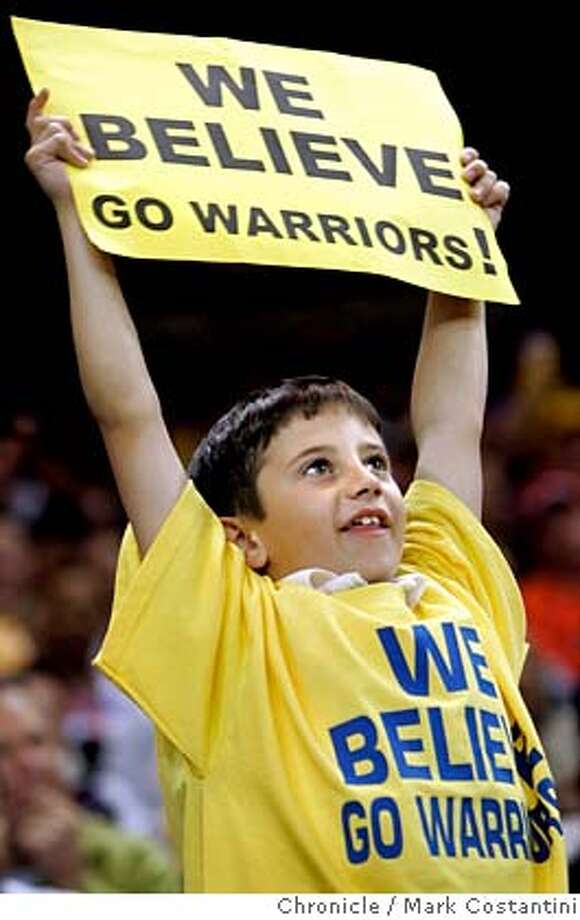 James Bickford, 9, Napa cheers during game. V. DALLAS in Oakland. PHOTO: Mark Costantini / The Chronicle Photo: MARK COSTANTINI