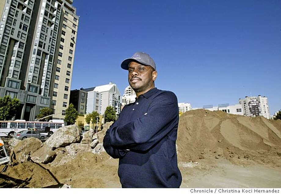 CHRISTINA KOCI HERNANDEZ/CHRONICLE  We meet Michael Johnson, the developer who finally made it happen. The Fillmore Heritage development, a decade in the making, is finally underway after years of City Hall politicking and neighborhood whining. The main project is a 80-unit condo complex combined with parking garages and a new home for Yoshi's, the great East Bay jazz club. We meet Michael Johnson, the developer who finally made it happen. Photo: CHRISTINA KOCI HERNANDEZ