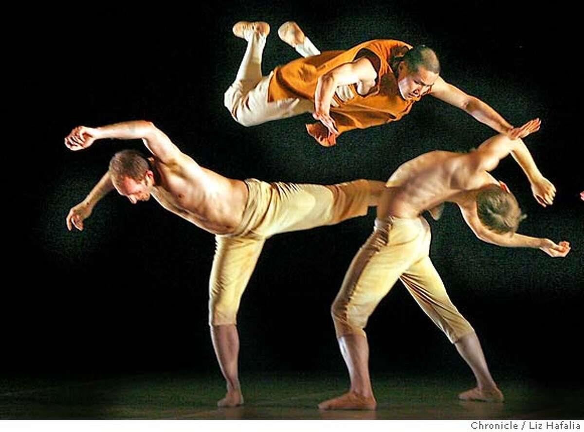 Lines Ballet collaborates with seven Buddhist monks, renowned for their martial arts, in