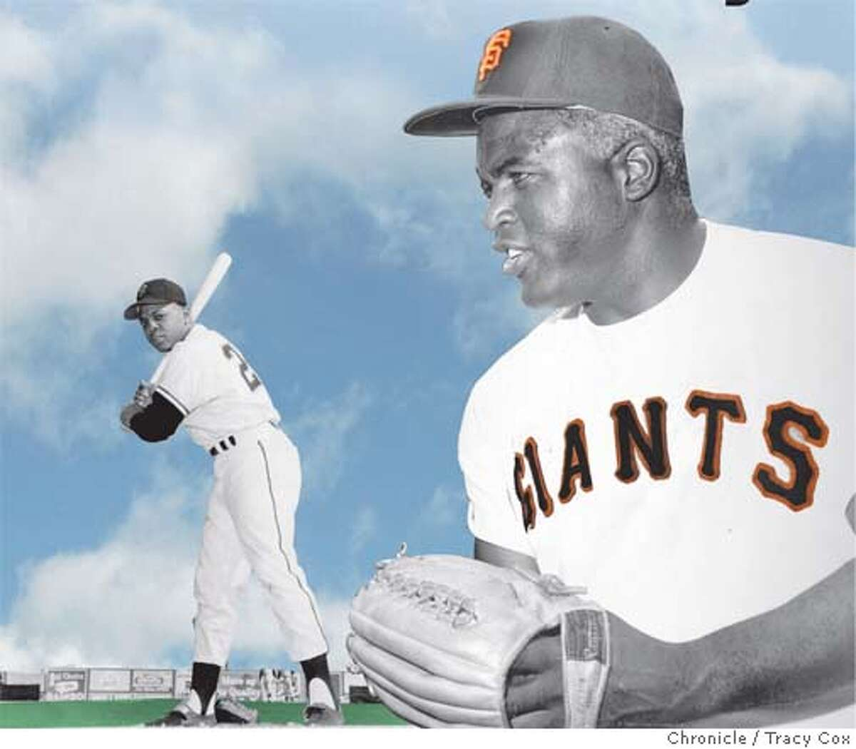 Willie Mays and the Giants might have been able to stay in New York if Jackie Robinson had joined their team. Chronicle photo illustration by Tracy Cox