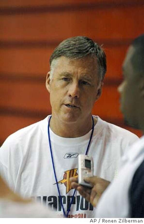 Golden State Warriors' head coach, Mike Montgomery, speaks with the media after a practice session in Laie, Hawaii, Thursday, Oct. 6, 2005. (AP Photo/Ronen Zilberman) Ran on: 10-10-2005 OCT. 6, 2005 PHOTO Photo: RONEN ZILBERMAN