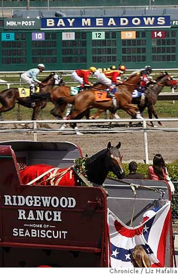 SEABISCUIT_046_LH_.JPG A life-size bronze sculpture of American racehorse Seabiscuit will be coming home to Ridgewood Ranch in Willits, California before touring Seabiscuit sites such Bay Meadows in San Mateo. Liz Hafalia/The Chronicle/San Francisco/4/16/07  ** cq �2007, San Francisco Chronicle/ Liz Hafalia  MANDATORY CREDIT FOR PHOTOG AND SAN FRANCISCO CHRONICLE. NO SALES- MAGS OUT. Photo: Liz Hafalia