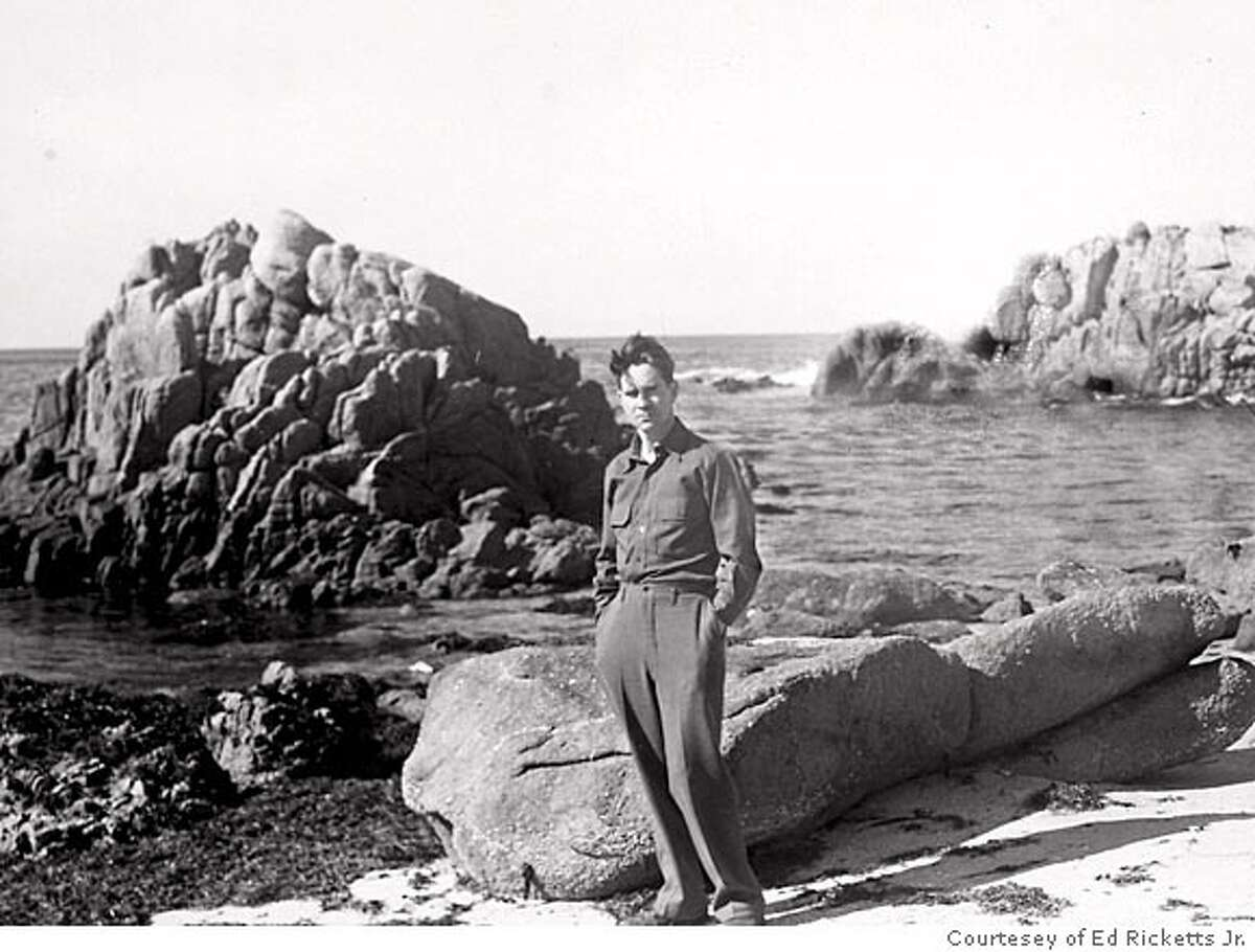 Ed Ricketts at the Monterey shore.
