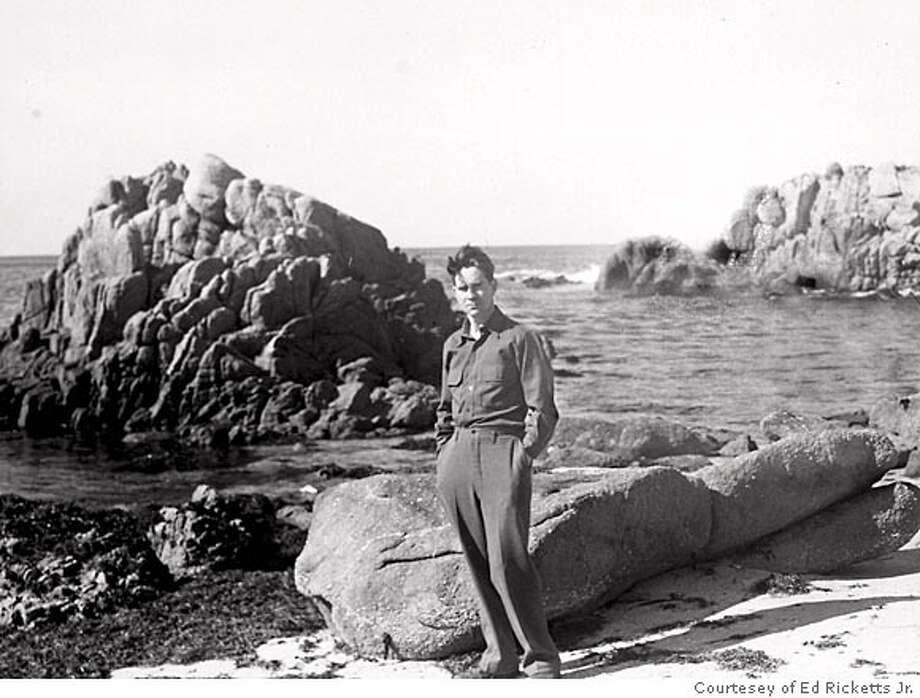 Ed Ricketts at the Monterey shore. Photo: Courtesey Of Ed Ricketts Jr.